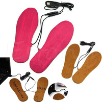 THINKTHENDO New Hot USB Electric Powered Heated Insoles For Shoes Boots Keep Feet Warm