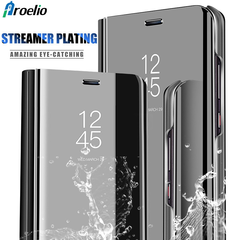 Proelio Smart Mirror Clear View Phone Cover For Huawei Mate 10 Lite Mate 8 9 Leather Flip Case For Huawei Mate 10 Pro Case CoqueProelio Smart Mirror Clear View Phone Cover For Huawei Mate 10 Lite Mate 8 9 Leather Flip Case For Huawei Mate 10 Pro Case Coque