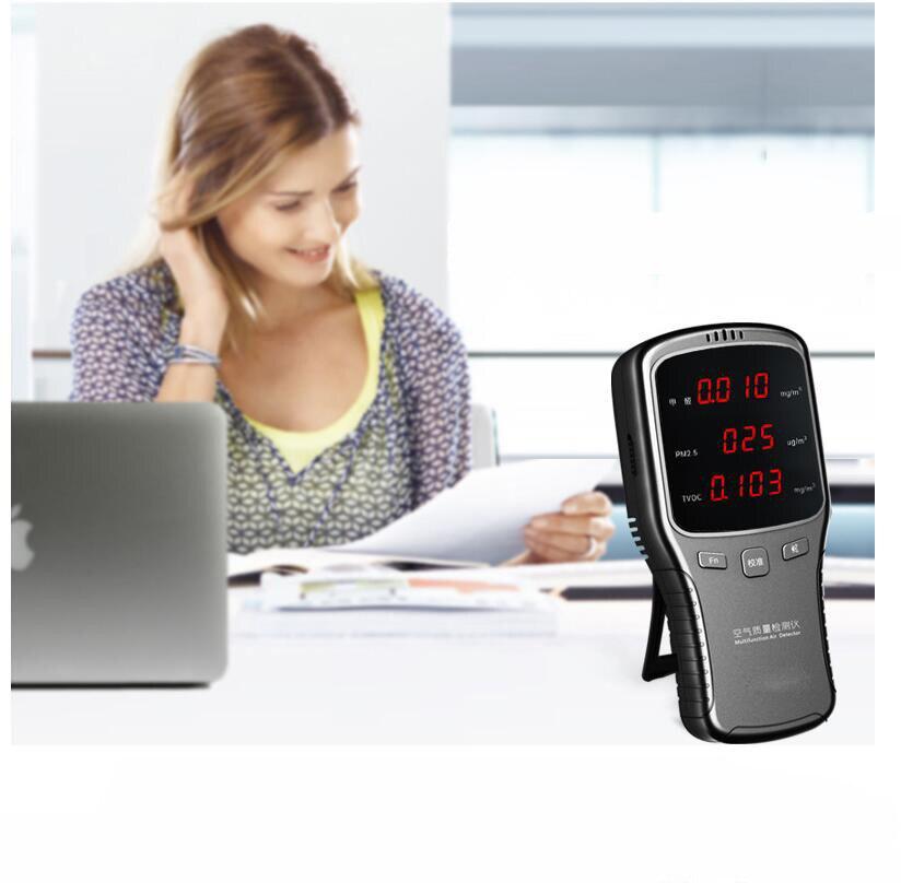 PM1.0 PM2.5 PM10 Formaldeyde Détecteur HCHO COVT Surveiller Numérique Analyseur De Gaz Des Ménages PM 1.0 2.5 10 Air Qualité Détecteur