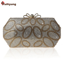 New Women's Fashion Rhinestone Clutch Exquisite Diamond Spell Color Circle Evening Bag Wedding Party Handbag Chain Shoulder Bag