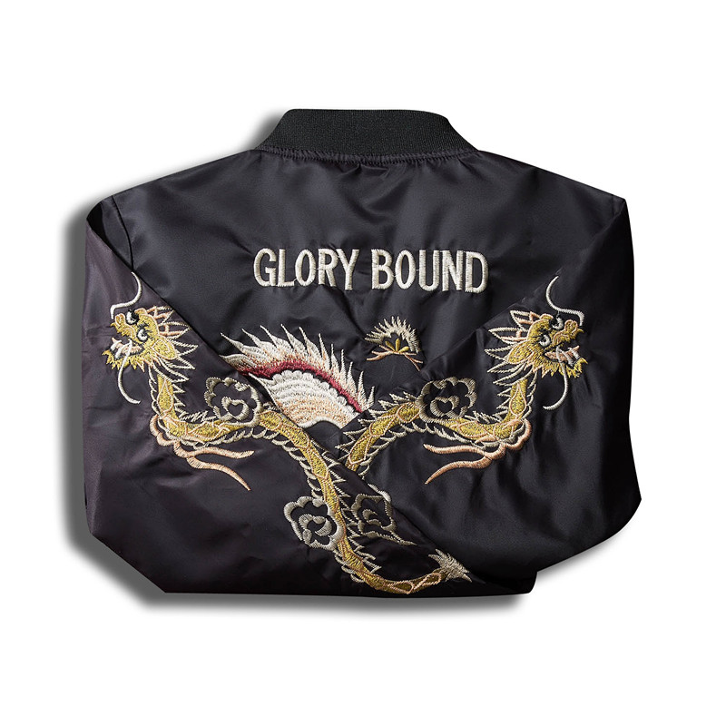 QiyuanLS Для мужчин Вышивка MA1 Курточка бомбер пальто 2018 китайский Стиль пилот бомбардировщика пальто Бейсбол джерси куртки хип-хоп куртка