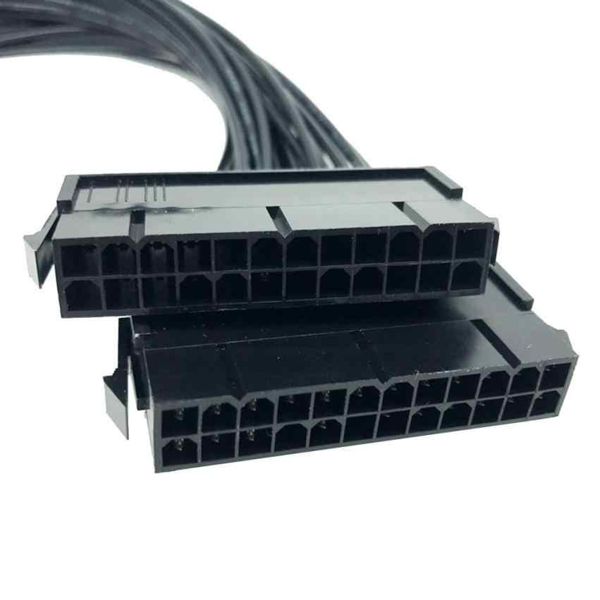 امدادات الطاقة PSU 24 دبوس ATX اللوحة اللوحة محول موصل كابل المزدوج 18jan31