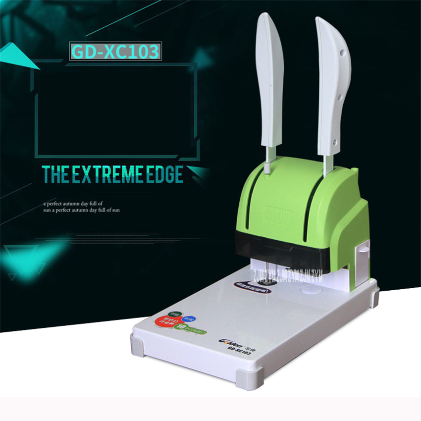 XC103 Financial Documents binding machine binder Hot-melt nylon hose with riveting tube Manual punching Bookbinding Machine 220V financial accounting with annual report