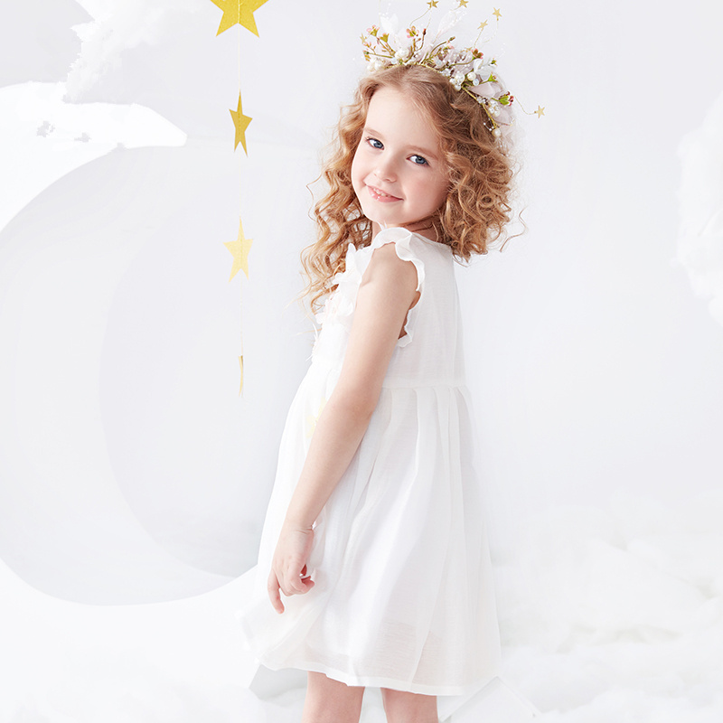 Girls White Princess Dress Baby Cute Dress Summer Childrens Dress  Sweet 2019 NewGirls White Princess Dress Baby Cute Dress Summer Childrens Dress  Sweet 2019 New