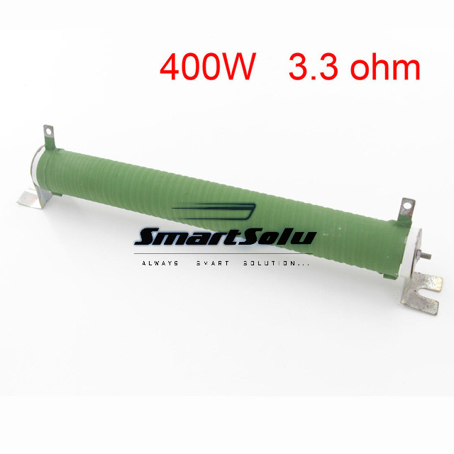 1PC Customized Green Fixed Type Pipe Resistance 400W 3.3 ohm Ceramic Tube Resistor цены