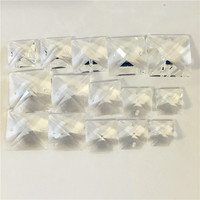 Square Shape 14mm 16mm 18mm 20mm 22mm Two Holes Beads For Home Hotel Lamp Curtain Window