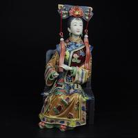 The best Christmas gift !! High:10inch Collection Chinese handmade ceramic Statue/Palace Ladies about the Qing Dynasty Sculpture
