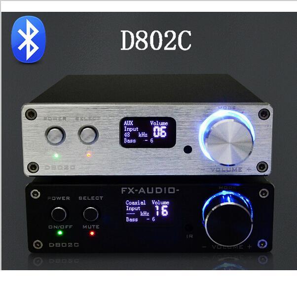 Prix pour FX-Audio D802C Bluetooth@3.0 Pur Plein Numérique Amplificateur USB/RCA/Optique/Coaxial Entrée 24Bit/192 KHz 80 W * 2 OLED Affichage À Distance