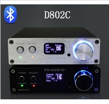 FX-Audio D802C Wireless Bluetooth Version Input USB / AUX / Optical / Coaxial Digital Amplifier Audio Murni 24Bit / 192KHz 80W + 80W OLED