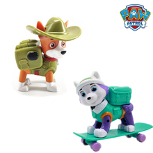 New Paw Patrol Everest Tracker Dog Skateboard Puppies Snow Can Be Deformed Patrol Patrulla Canina PVC  Action Figure Model Toys