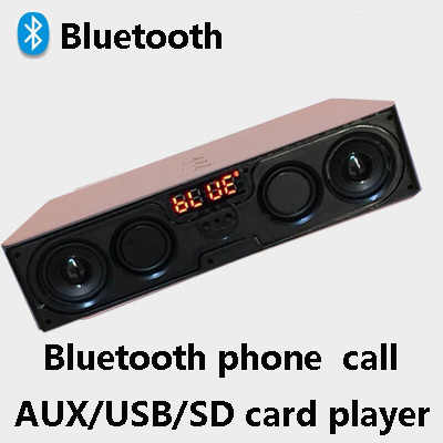 Dengan Antena FM Bluetooth Speaker Wireless Portable Stereo Subwoofer USB TF MP3 Player FM Radio BOOMBOX Speaker Ponsel