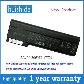11,1 V 100wh CC09 original nueva batería del ordenador portátil para HP 6360b 6460b 6465b 6470b EliteBook 8460 P 8460 W HSTNN-F08C HSTNN-LB2F serie