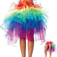 488460213 2018 Sexy Woman Skirts Rainbow Tail Tutu Skirt Adult Tulle Skirt Girls Cake  Party Dance Ballet