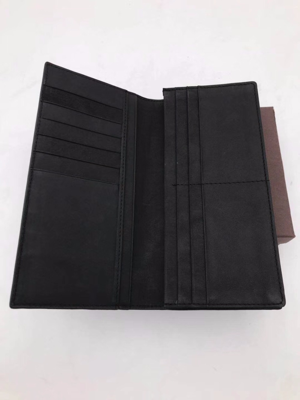 2019 woven bag Men's Wallet Hand knit High quality cowhide Business affairs Long Money Wallet - 6