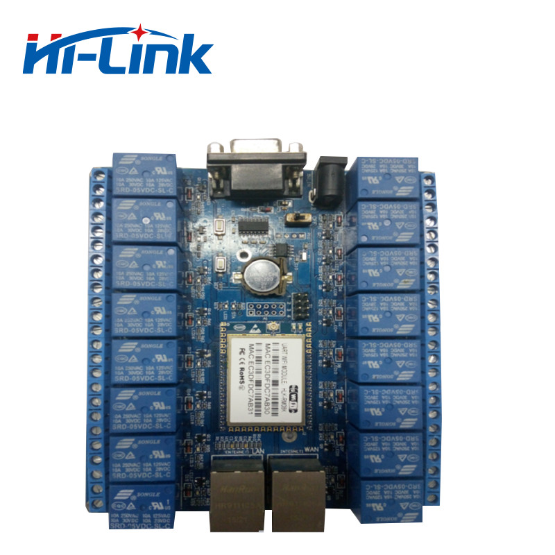 Free shipping 16 channel relay module with free android PC software support private cloud HLK SW16K|Remote Controls|   - AliExpress