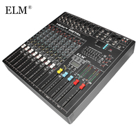 ELM Professional Audio DJ Mixing Console 8 Channels WIth USB DSP Digital Effects Processors For DJ Audio Karaoke Sound Mixer