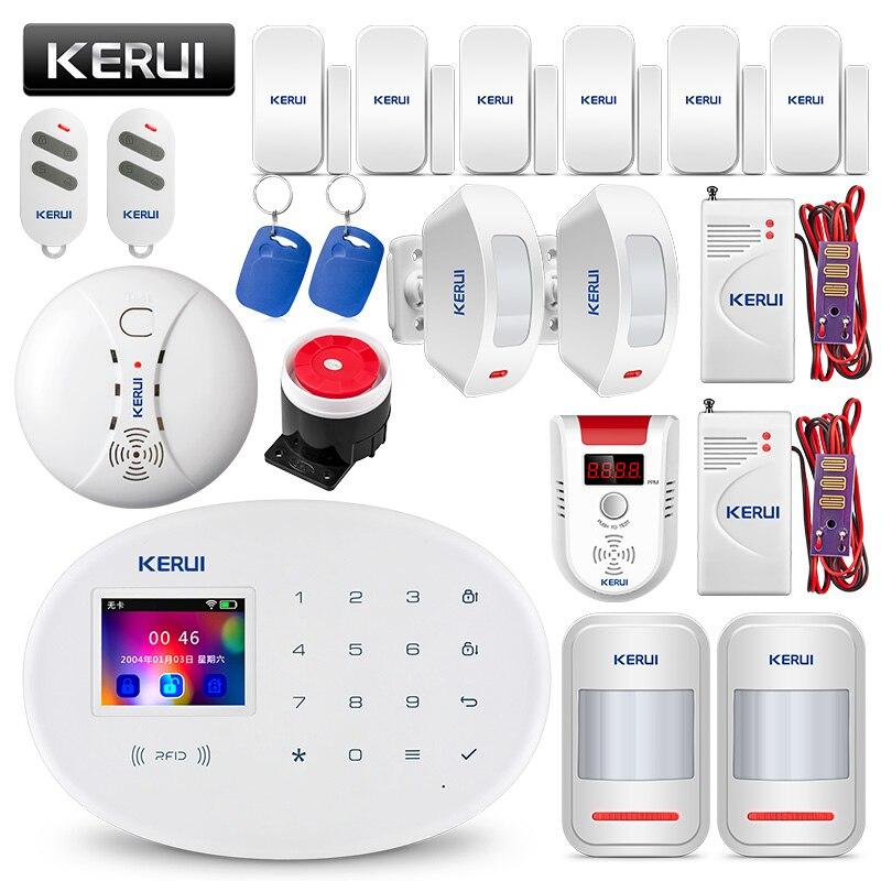 KERUI W20 WI-FI GSM дома охранной сигнализации Системы умный дом RFID Card APP Управление детектор движения охранной сигнализации детектор газа