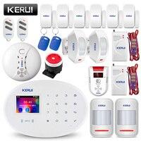 KERUI W20 WI FI GSM дома охранной сигнализации Системы умный дом RFID Card APP Управление детектор движения охранной сигнализации детектор газа