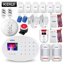 KERUI W20 Wi-Fi GSM домашняя охранная сигнализация система умный дом RFID карта приложение управление движения Охранная сигнализация с функцией обнаружения газа детектор