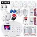 KERUI W20 WIFI GSM Home Sistema de Alarme de Segurança Casa Inteligente Detector De Gás De Alarme Detector de Movimento do Assaltante APP Controle de Cartão RFID