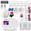 KERUI W20 WIFI GSM sistema de alarma de seguridad para el hogar Smart Home RFID tarjeta APP Control Detector de movimiento alarma antirrobo Detector de Gas
