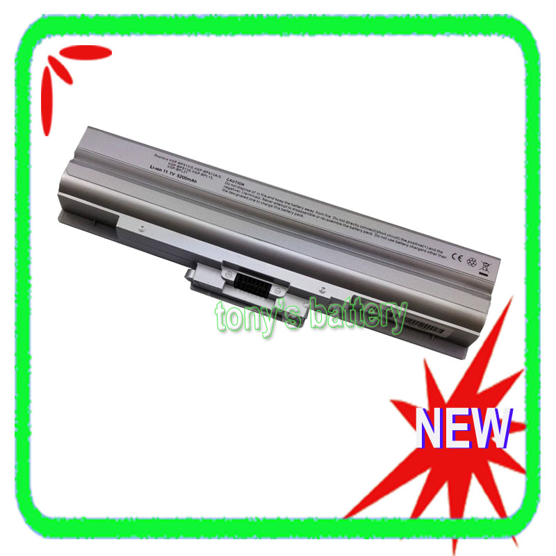 6Cell Battery for Sony Vaio VGP-BPS13A/B VGP-BPS13/S VGP-BPS21A VGN-FW11S VPCCW152C VGN-NS VGN-NW Silver lmdtk new 6cells laptop battery vgp bpl13 vgp bps13a b fit for sony vaio vgn vpc vgn fw vgn sr series free shipping