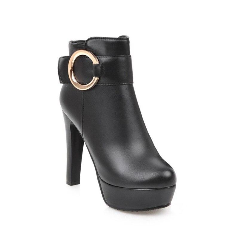 2018 Winter Women Ankle Boots Woman Fashion Martin Boots Platforms High Heels Party Shoes Lady Botas bottes d hiver pour femmes