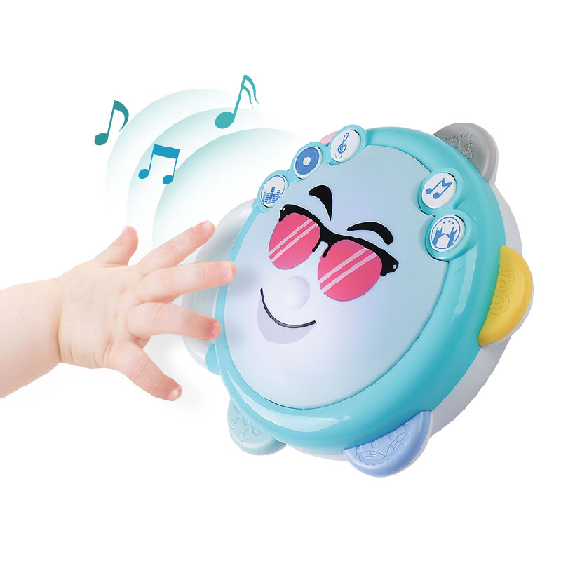 Baby Rattles & Mobiles Souptoys Enlightenment Toys Jade White Rapture Baby Toys Beating Drum Tambourine Lighting Music Little Dj Gift 6 Months Baby & Toddler Toys