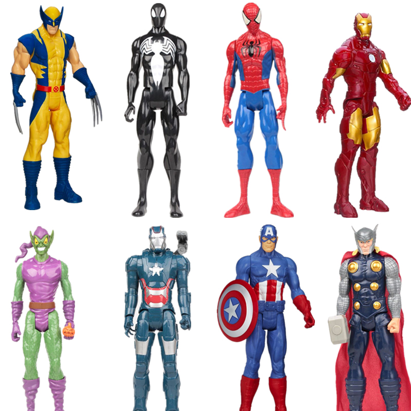 Marvel Super Heros The Avengers Thor Iron Man Spider Man Captain American 30cm