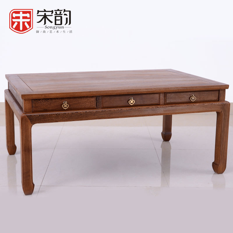 Song Yun Mahogany Furniture Living Room Wooden Chinese Kung Fu Tea Table Wood TV Cabinet Table Size Apartment Layout