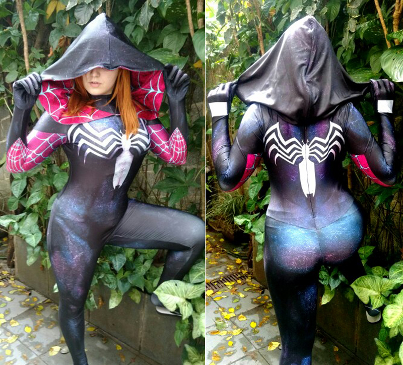 Gwenom Cosplay Costume woder Woman Spiderman zentai bodysuit Symbiote Gwen Stacy Spiderman Superhero Costume 3D Printed Fullbody