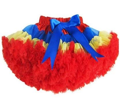 Юбка-пачка для девочек; детская юбка-пачка; Радужная юбка-пачка; одежда для мамы и дочки; ярко-синяя и красная юбка-пачка - Цвет: Цвет: желтый