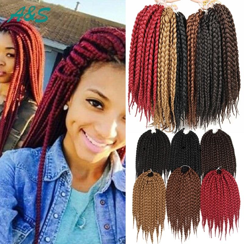 12quot box braids hair crochet braids 80gpack crochet hair