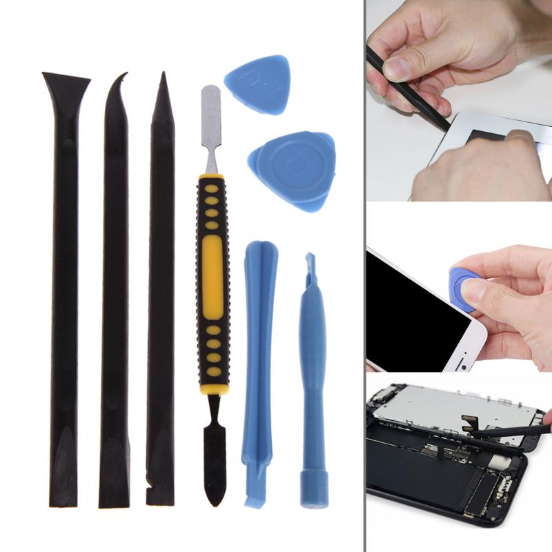 8 Pieces DIY Phone Opening Pry Tool Repair Kit Screwdriver Set With Tape for Cell Phone iPhone6/6s/7 Ipad Screen Replacement