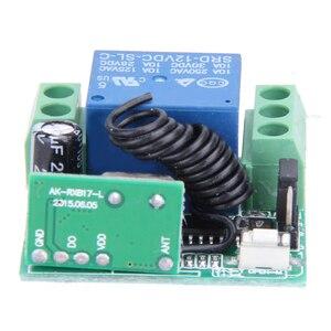 Image 5 - Télécommande universelle sans fil commutateur DC 12V 10A 433MHz Telecomando transmetteur avec récepteur pour système dalarme antivol