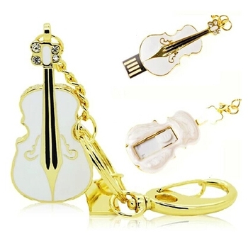 Mini USB Flash Drive Jewelry Violin Pendrive 64GB 128GB Crystal USB 2.0 Flash Memory Stick 8GB 16GB 32GB Pen Drive 1TB 2TB Gift