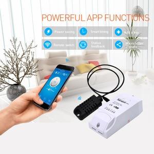 Image 3 - Sonoff TH16 Smart Wifi Schakelaar Temperatuur Vochtigheid Monitor Met Sensor Am2301 Ds18b20 Si7021 Waterdichte Sonde Google Thuis