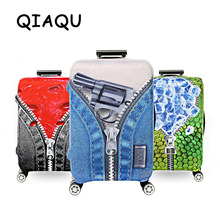 QIAQU 2017 Colorful Luggage Protective Cover For 18 to 32 inch Trolley suitcase Elastic Dust Bags Case Travel Accessories