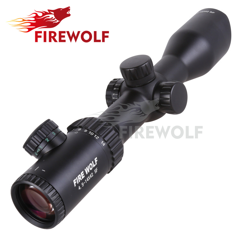 2017 NEW Fire Wolf 4.5-14X42 SF-B Riflescopes Rifle Scope Hunting Scope fits for 11mm/20mm Rail Free Shipping fyzlicion hunting fire wolf 6 24x60 m1 riflescopes rifle scope scope free shipping