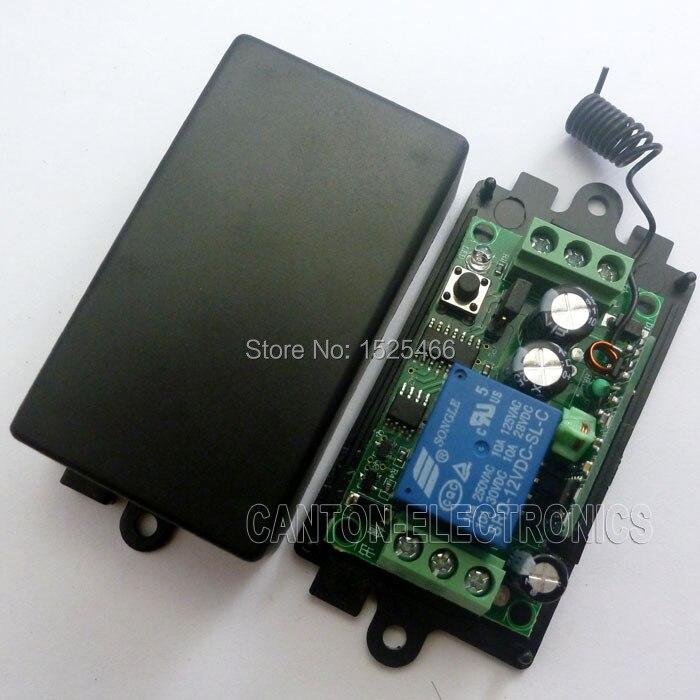 2 key Keyfob 2pcs one Channel Wireless Relay switch DC 12V 433M RF
