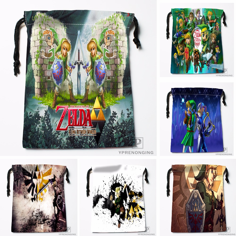 Custom Link Zelda Drawstring Bags Printing Travel Storage Mini Pouch Swim Hiking Toy Bag Size 18x22cm#180412-11-22