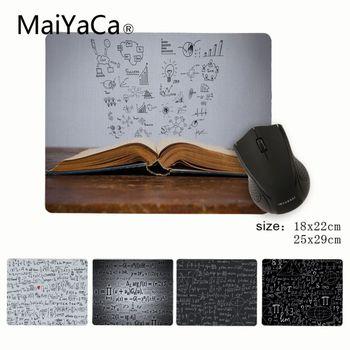 MaiYaCa, ratón pequeño de goma con diseño de fórmula matemática rectangular personalizado para juegos de ordenador portátil, alfombrilla de ratón para ordenador portátil