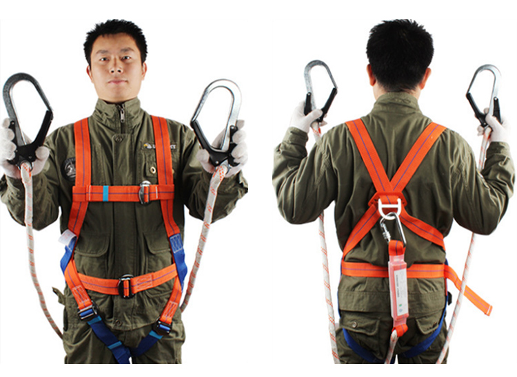 Safety Harness Five-point Type Systemic Safety belt with Double hook High-altitude operations Fall prevention Protect equipment (5)