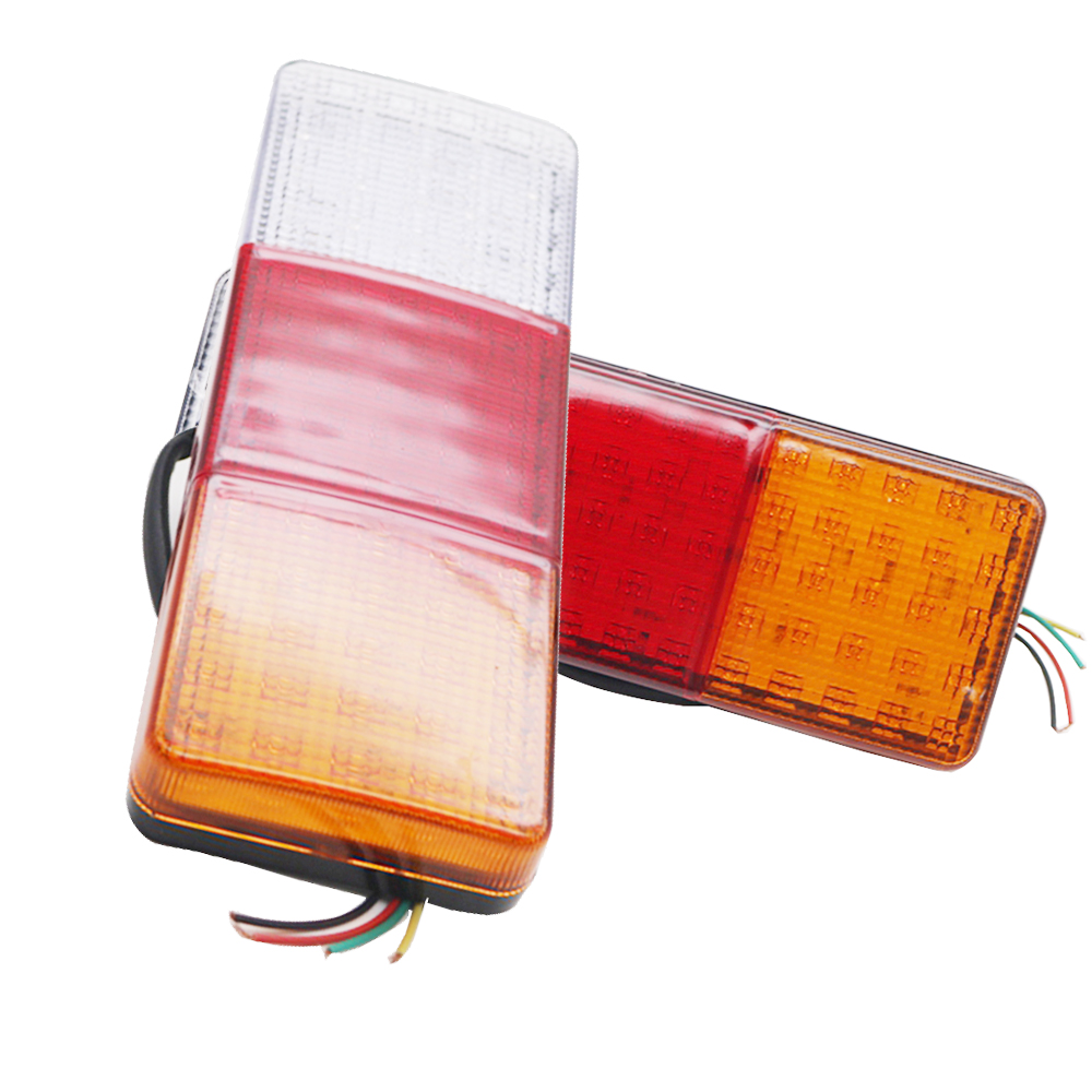 1 Pair External Lights DC12V 24V 75 LED Auto Car Bus Truck Lorry Indicator Led Trailer Light Rear Lamp Boat UTE Warning Light image