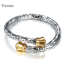 b670c2adf76 2 Colors Trendy Vintage Stainless Steel Skeleton Statement Cuff Lace Bangles  & Bracelets for Women(