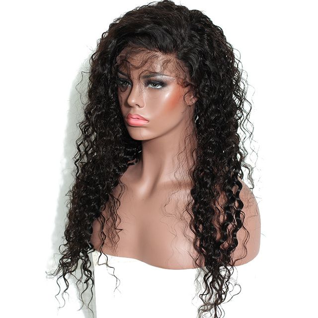 "14-24"" Curly Human Hair Wig"