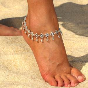 retro beach summer anklets women  link chain turkish anklets bracelet for party
