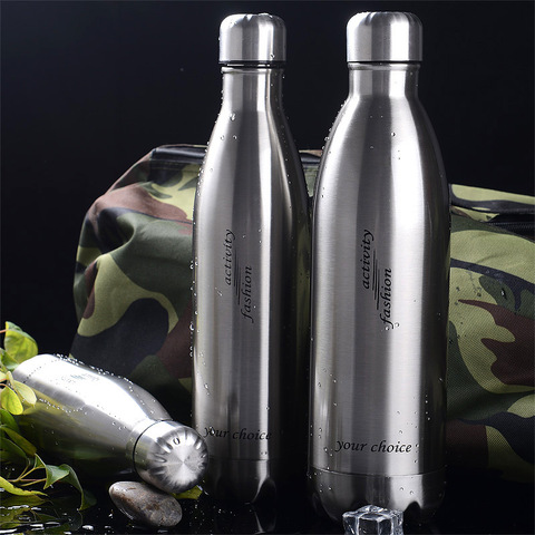 Large Capacity Stainless Steel Sports Water Bottle Strong Vacuum Cup Outdoor Sports Bottle Coke Bottle Lahore