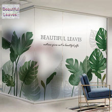 Custom size glass sticker stained with glue opaque Window Film self adhesive vinyl frosted office home Decorative Nordic