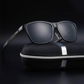 347e6d467d Gafas de sol de aluminio polarizadas para hombres 2018 gafas de sol de  marca de lujo ray gunes gozlugu erkek oculo